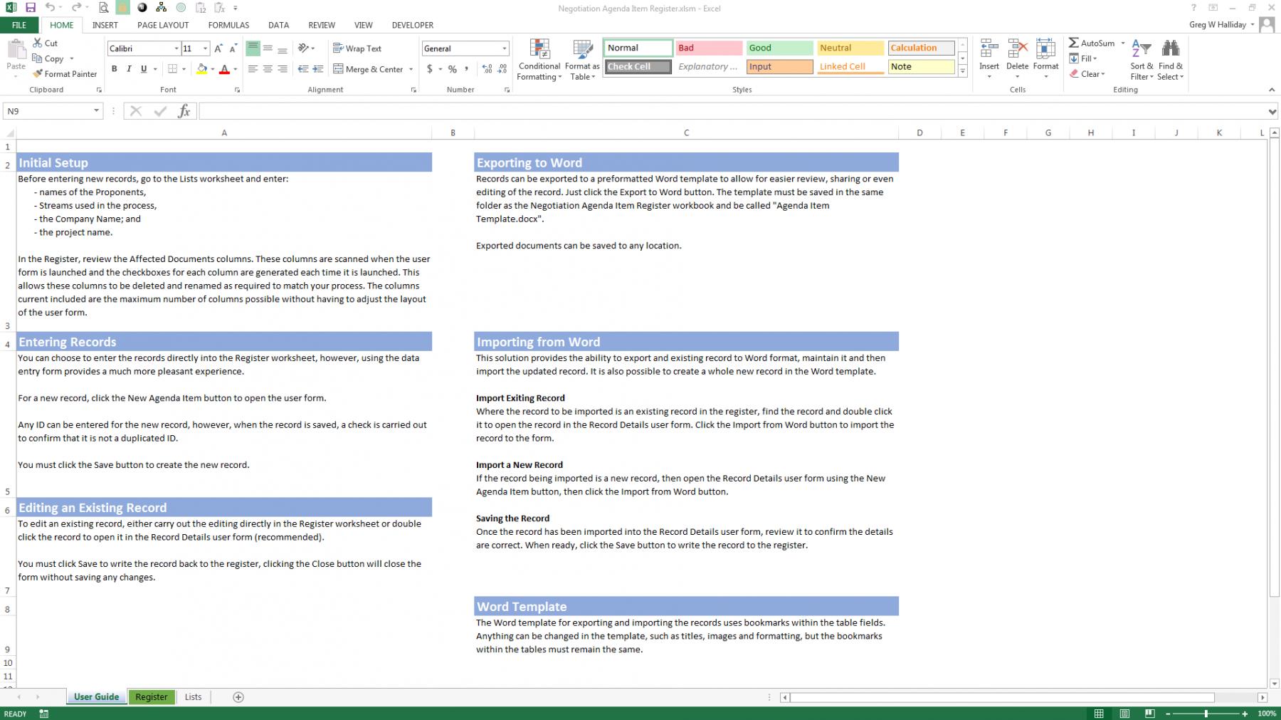 Worksheets Negotiation Worksheet negotiation agenda item register pme4u user guidance