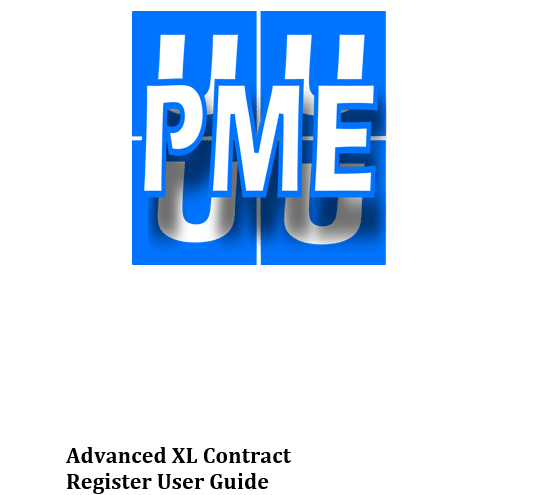 Advanced XL Contracts Register User Guide Cover